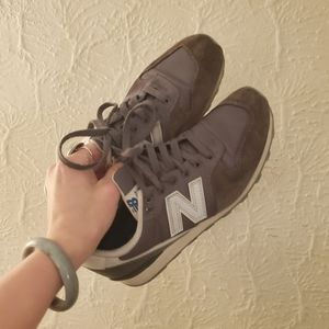 New Balance 696 Vintage Grey Sneakers Running 7.5